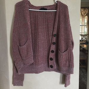 Pink knitted cardigan, size S, great condition